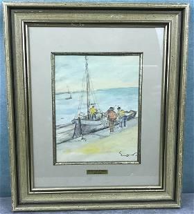 Watercolor Signed Emile Othon Friesz