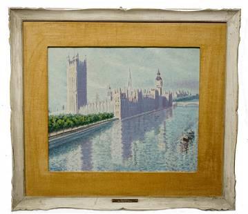 Walt Ruhman Westminster Bridge Painting