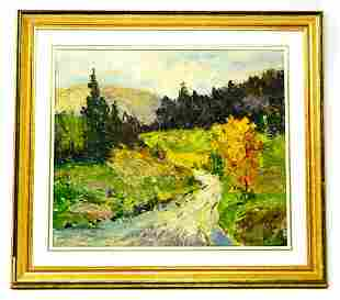 Lincoln Godfrey Morris Country Lane Painting