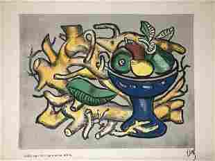 Fernand Leger Multiple In Color Le Compotier Blue