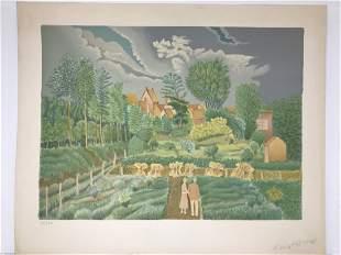 Jan Kwiatkowski Color Lithograph