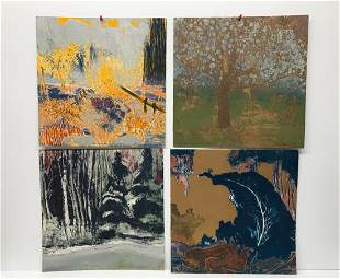 Andre Bergeron lot of 4 color Lithographies