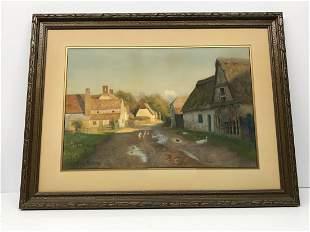 Waiter Follen Bishop 1856-1936 Village Scene