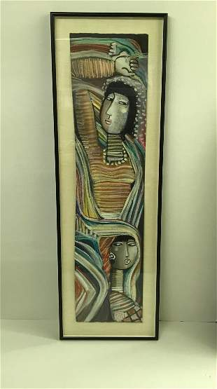 Long Looi Lee 1943 Colorful Scarves