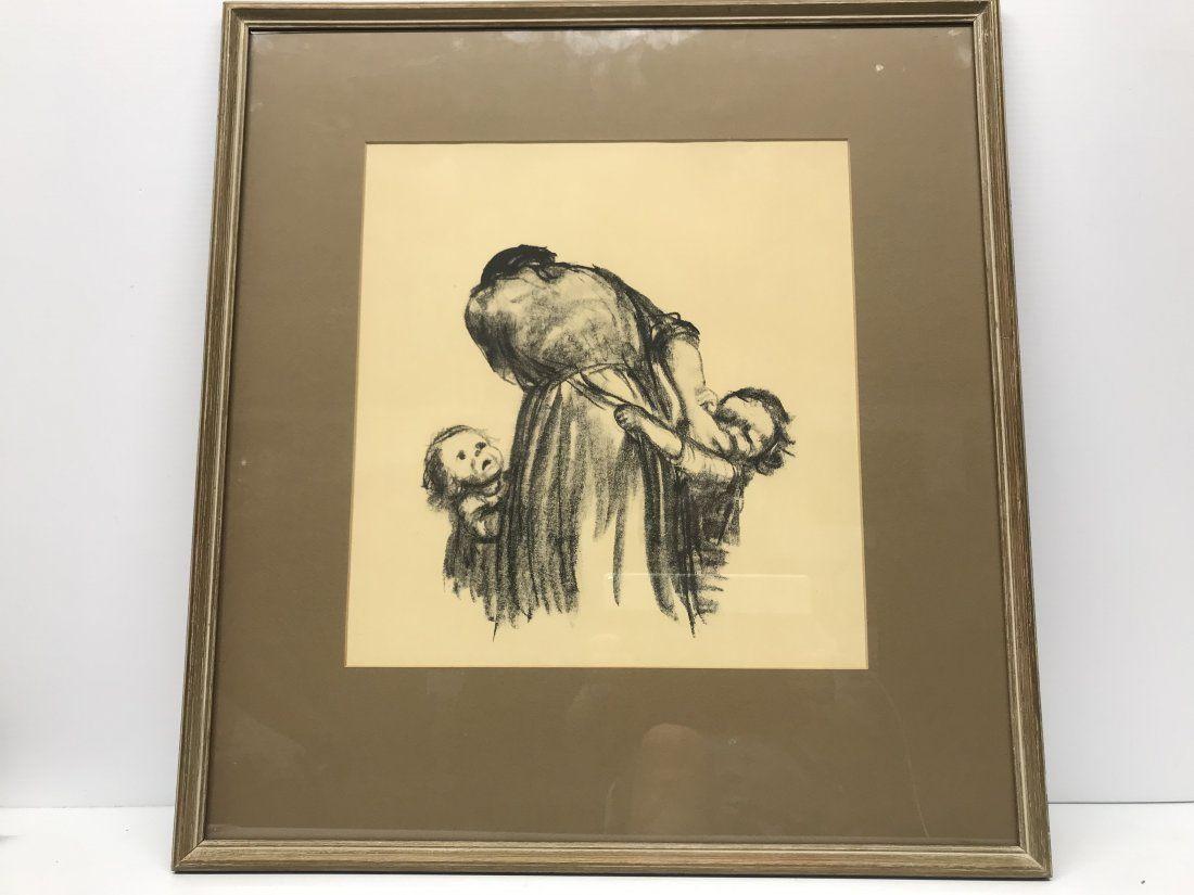 Kathe Kollwitz 1867-1945 Lithograph