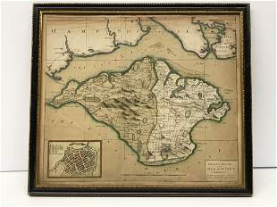 Antique Map Isle of Wight 1780