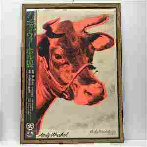 Andy Warhol 1928-1987 Pink Cow Screen Print