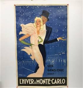 Jean Gabriel Domergue 1889-1962 L'Hiver a Montecarlo