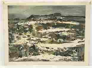 Canadian Moe Reinblatt 1917-1979 Winter Landscape