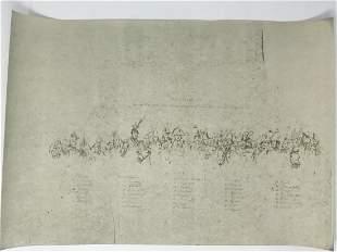 Napoleon Entoure des ses generaux Lithograph