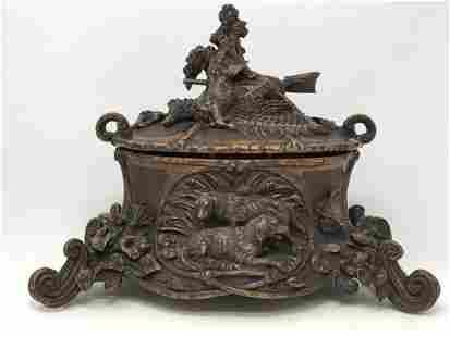 Antique Black Forest Jewelry Hand Carved Box