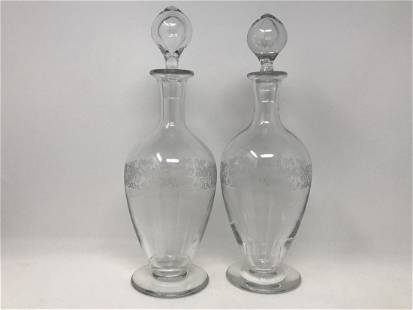 Pair of Baccarat France Crystal Decanters
