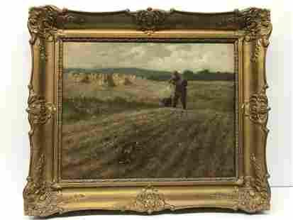 Arthur Heyer 1872-1931 Hunting Painting