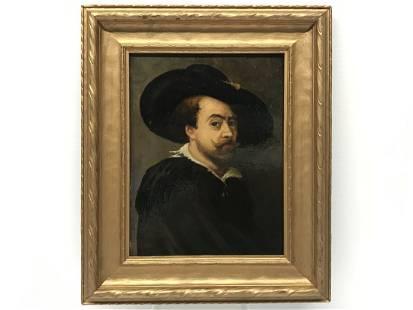 Followers of Peter Paul Rubens Self Portrait Painting