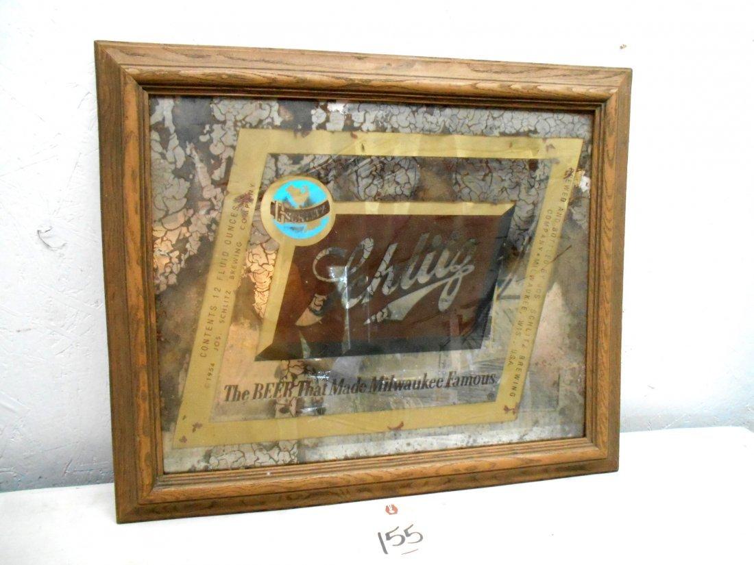 SCHLITZ BEER Mirror Sign