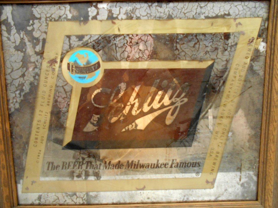 SCHLITZ BEER Mirror Sign - 2