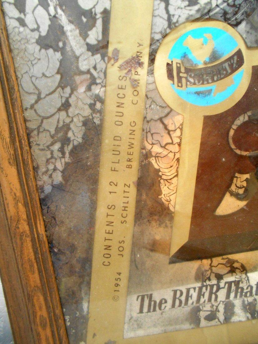 SCHLITZ BEER Mirror Sign - 4