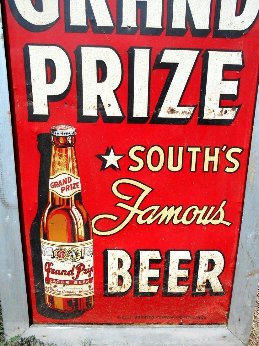 GRAND PRIZE BEER Enameled Sign - 3