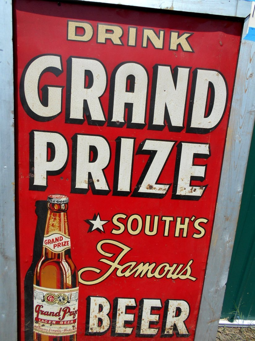 GRAND PRIZE BEER Enameled Sign - 4