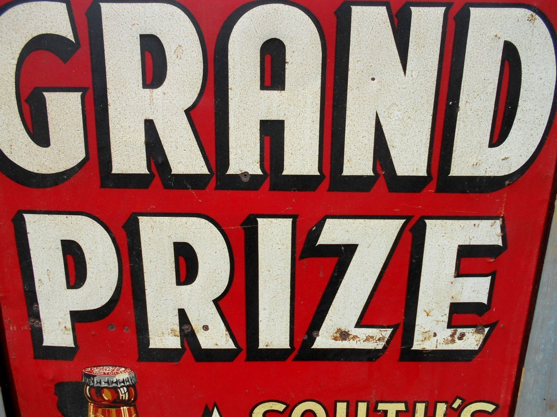 GRAND PRIZE BEER Enameled Sign - 6