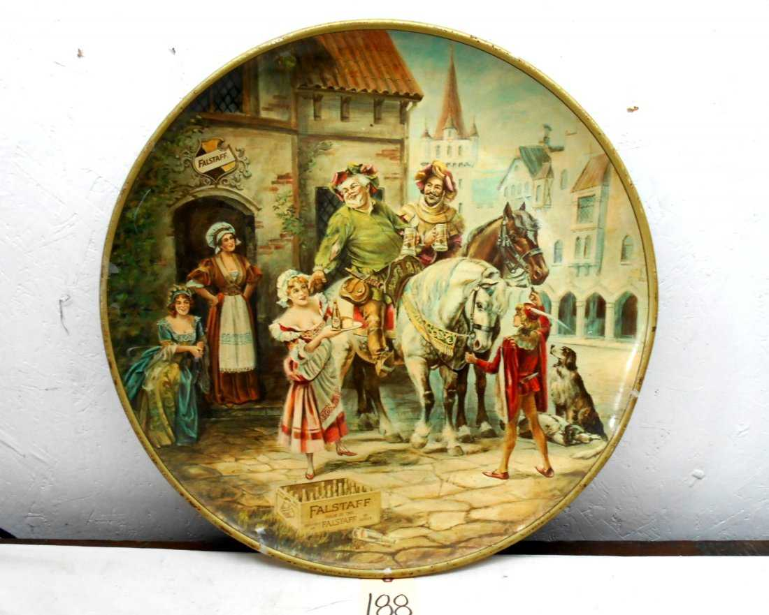 FALSTAFF BEER Large Round Tray/Wall Hanging
