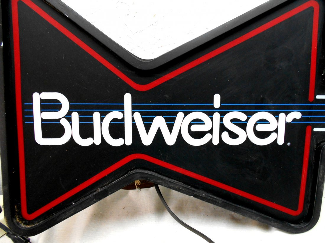 BUDWEISER BEER Guitar Shaped Neon Sign - 2