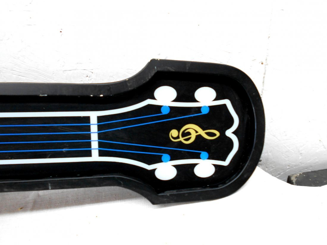 BUDWEISER BEER Guitar Shaped Neon Sign - 3