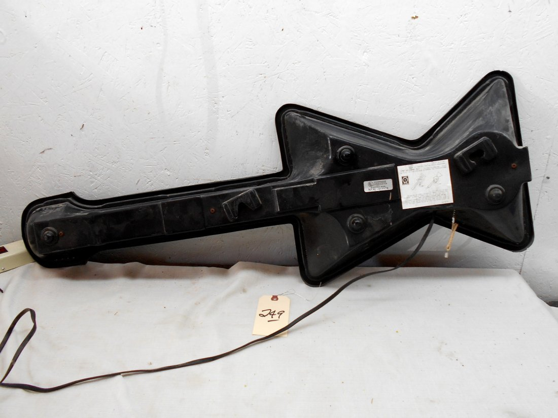 BUDWEISER BEER Guitar Shaped Neon Sign - 4