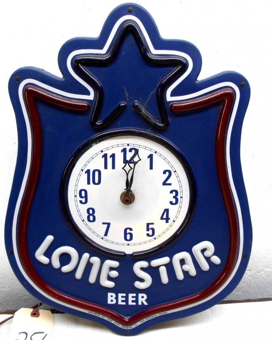 LONE STAR BEER Clock