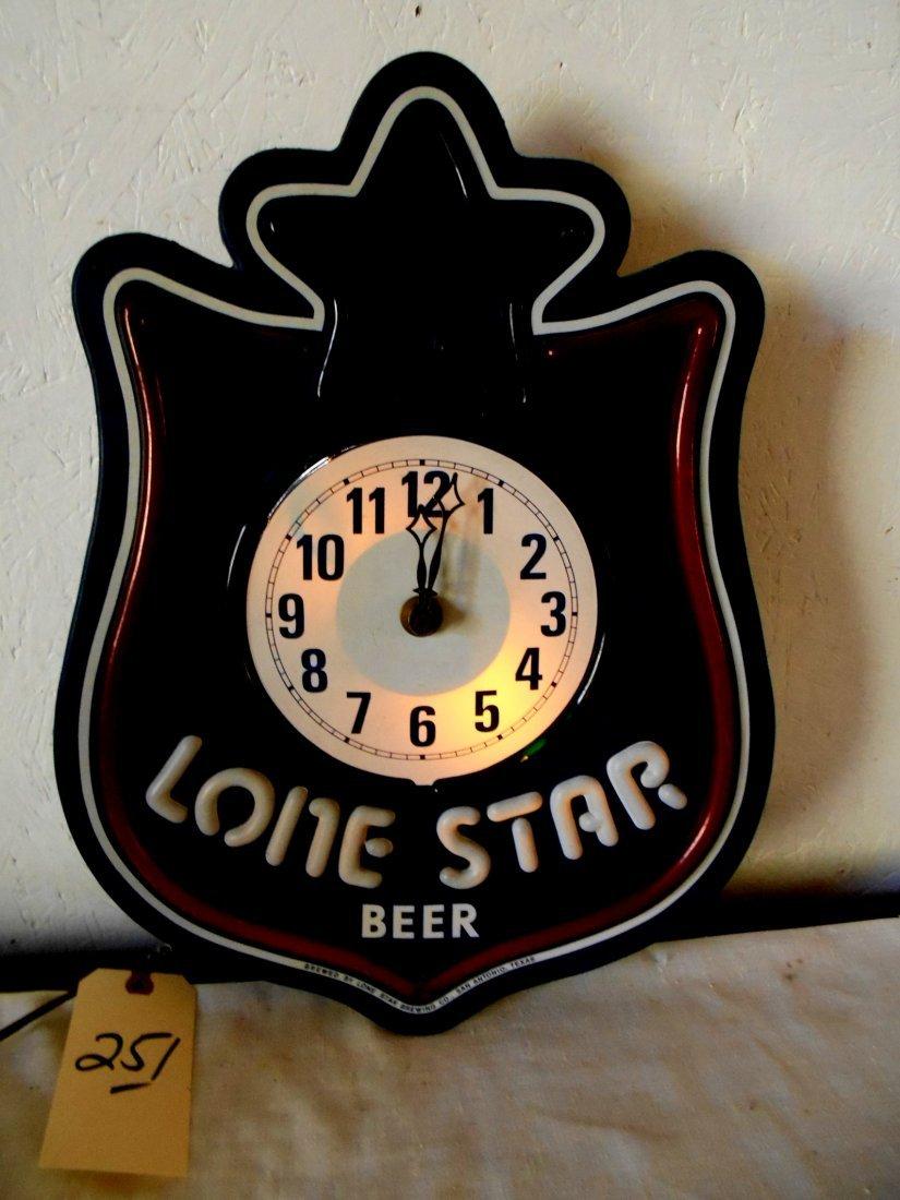 LONE STAR BEER Clock - 2