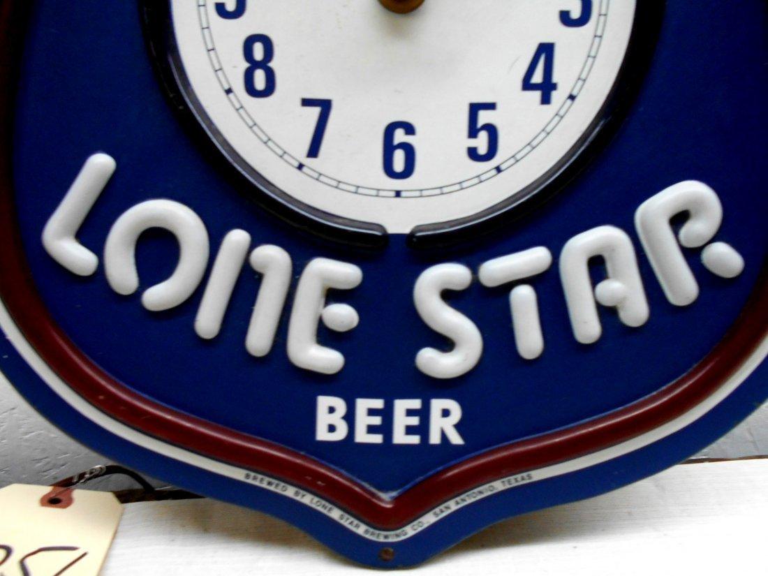 LONE STAR BEER Clock - 5