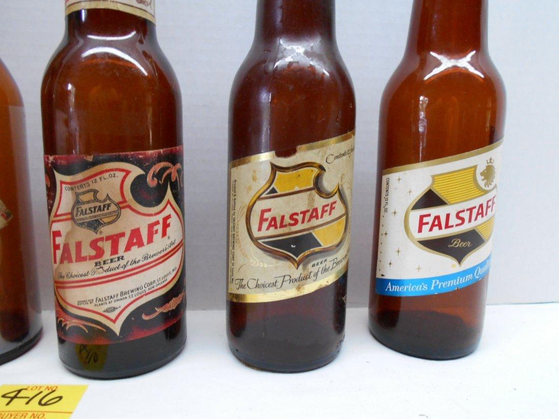 FALSTAFF BEER Brown Bottles - 3