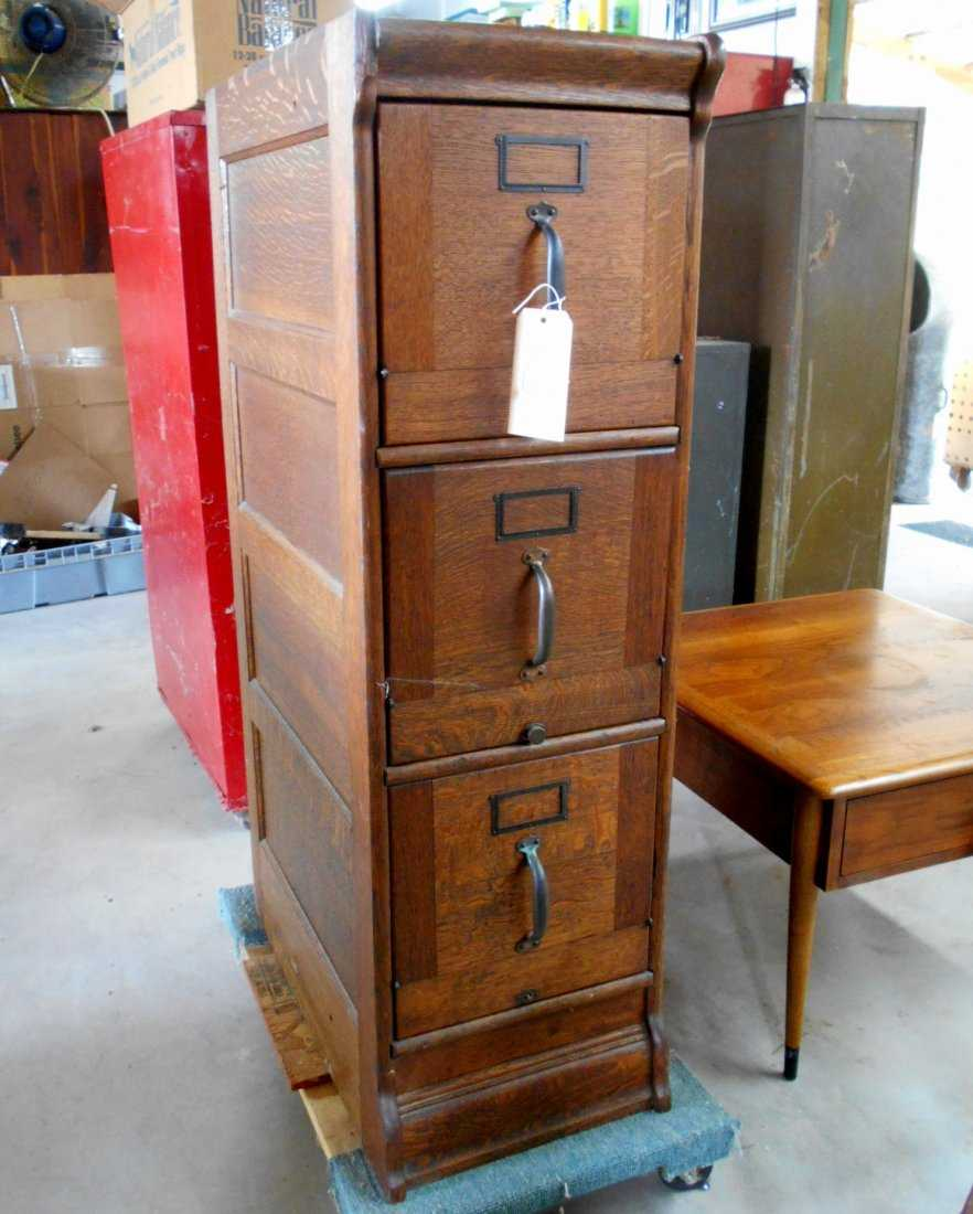 - Antique Wooden File Cabinet