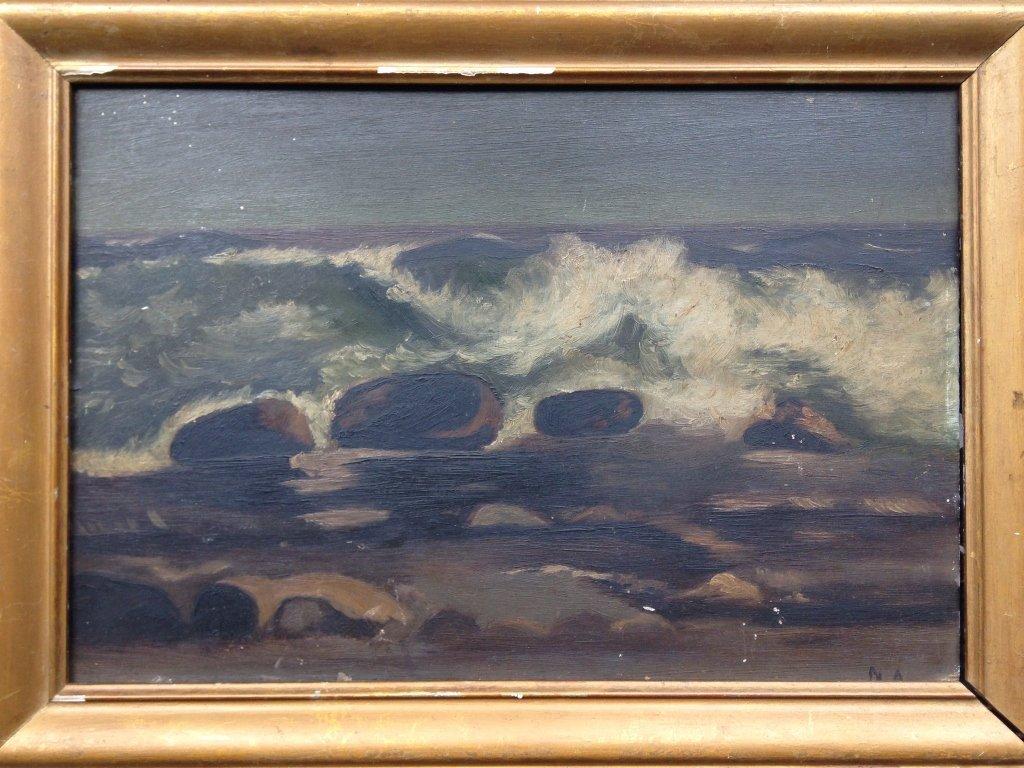 American School Wave Painting