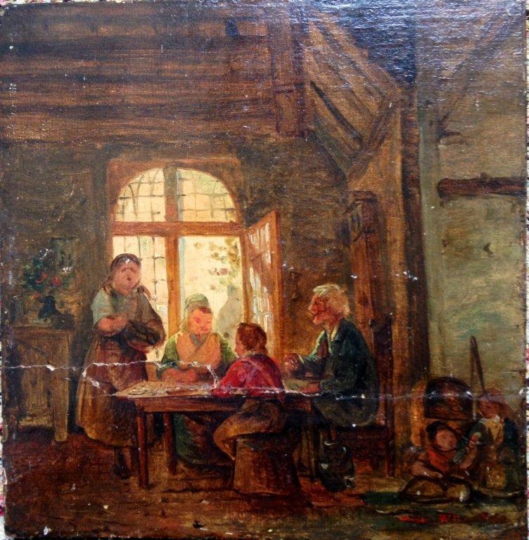 English School 19th Century Genre Scene