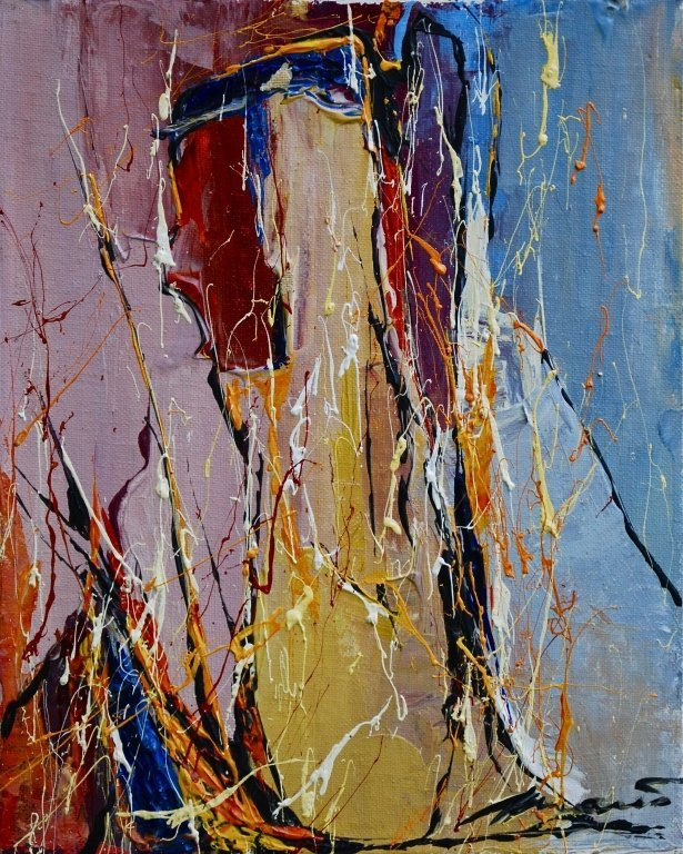 American School, Signed Abstract
