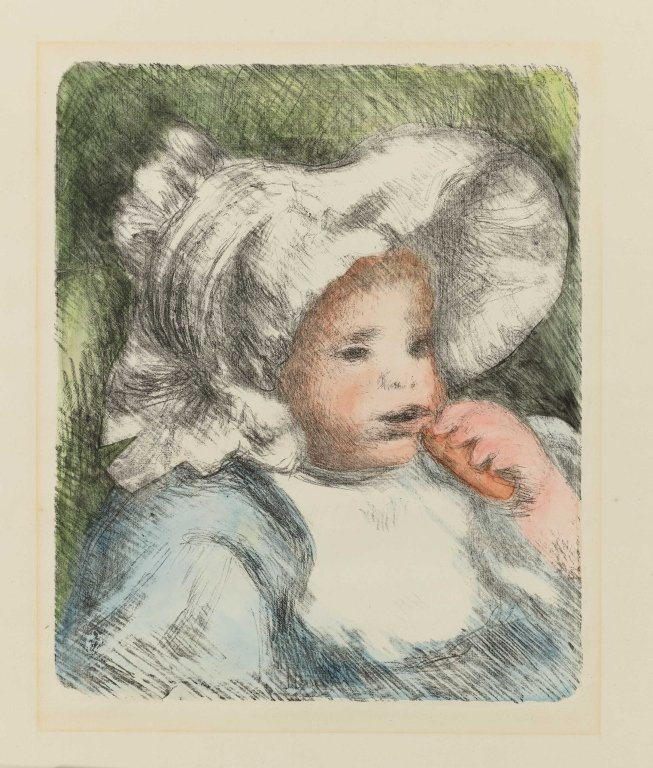 Renoir, hand colored lithograph