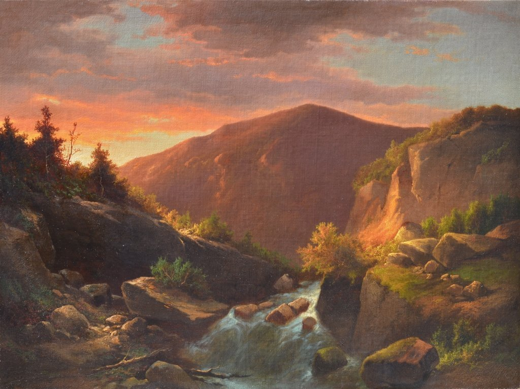 Attr. to Louis Remy Mignot, Sunset