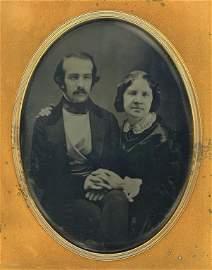 Daguerreotype of Jenny Lind and Otto Goldschmidt