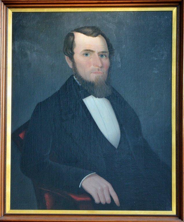 Folk Portrait of Bearded Man