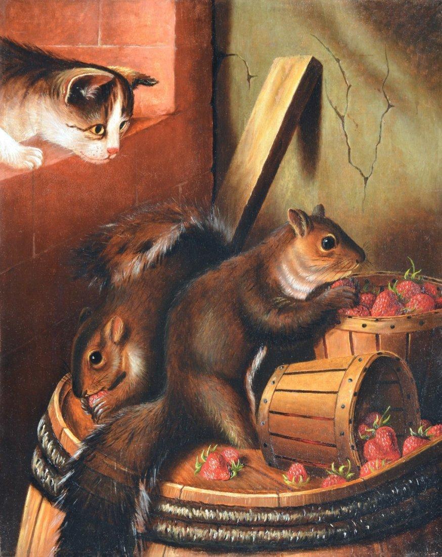 Susan Waters - Cat Watching Squirrels