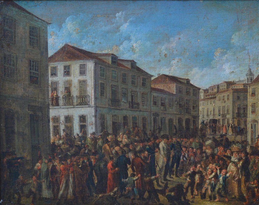 Napoleonic Era Paris Street Scene