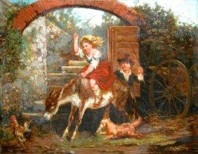 James Henry Beard (1811-1893) Genre Scene