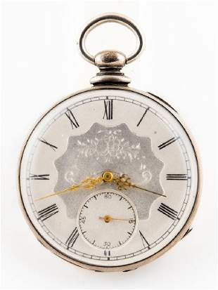 TISSOT POCKET WATCH, ENGRAVED W.T. SAMPSON Le Locle,