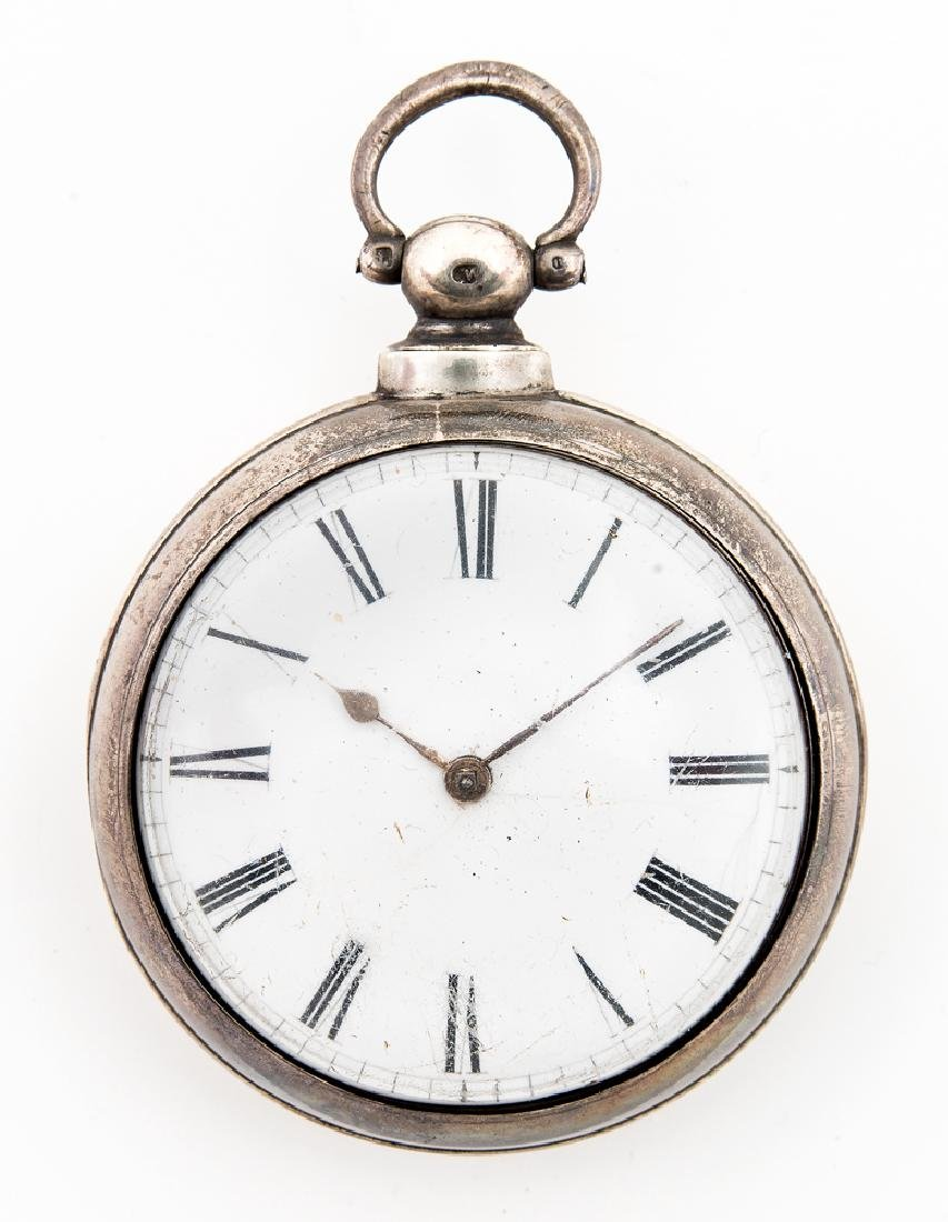 ENGLISH POCKET WATCH, ENGRAVED D.G. FARRAGUT Unknown