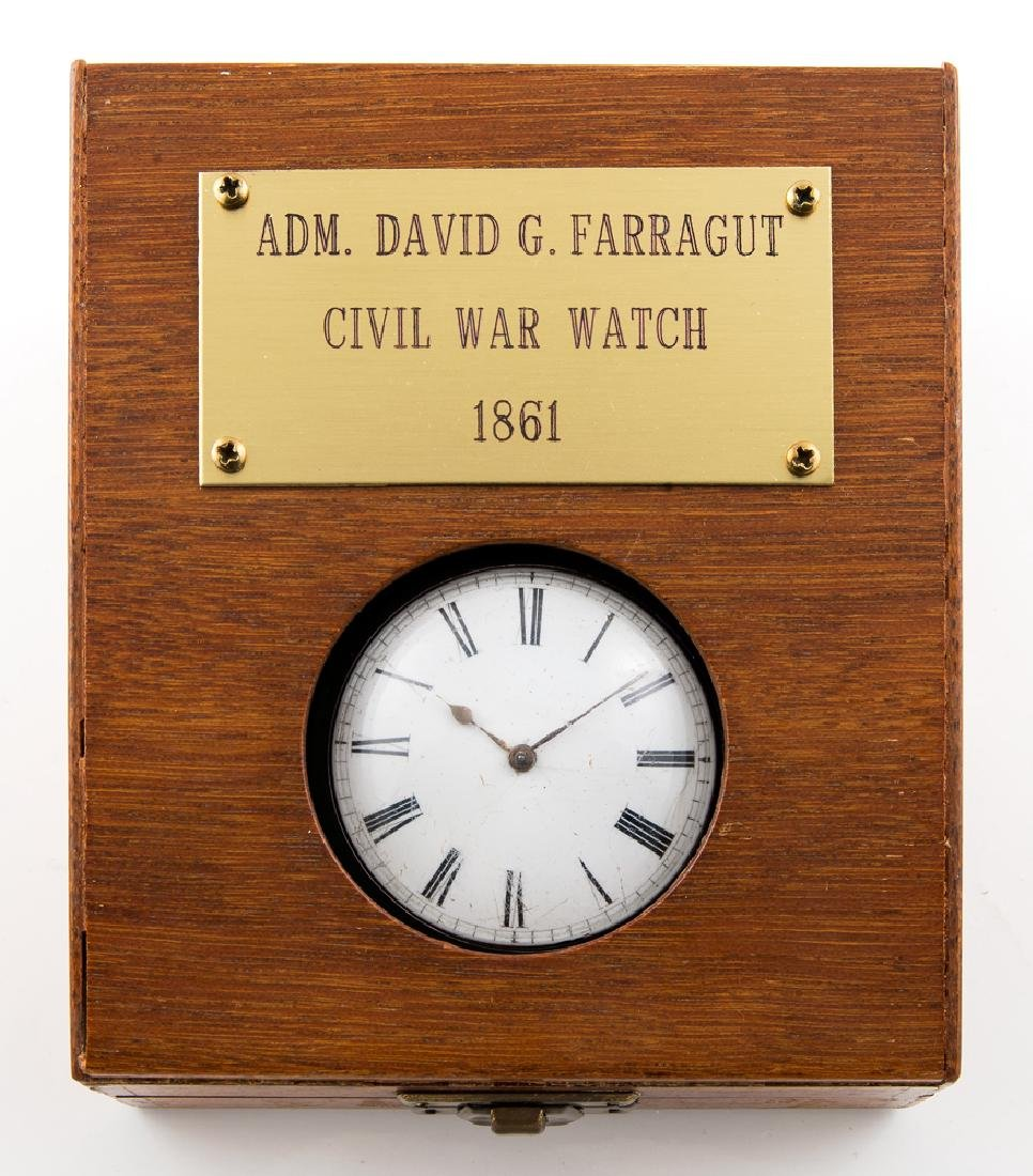 ENGLISH POCKET WATCH, ENGRAVED D.G. FARRAGUT Unknown - 7