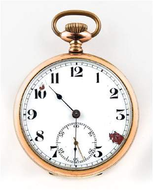 POCKET WATCH, ENGRAVED E. ROMMEL Junghans Watch