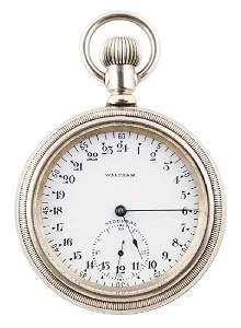 SIDEREAL POCKET WATCH, ENGRAVED R.E. BYRD Waltham Watch