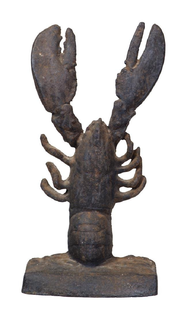 EARLY LOBSTER DOOR STOP Cast iron, originally from the