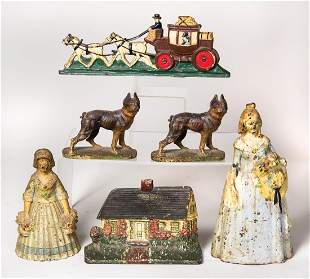 CAST IRON DOOR STOP COLLECTION Two Victorian style